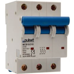 10KA 3 Pole Din Rail Mount MCB