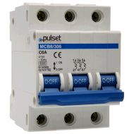 6KA 3 pole Din Rail Mount MCB