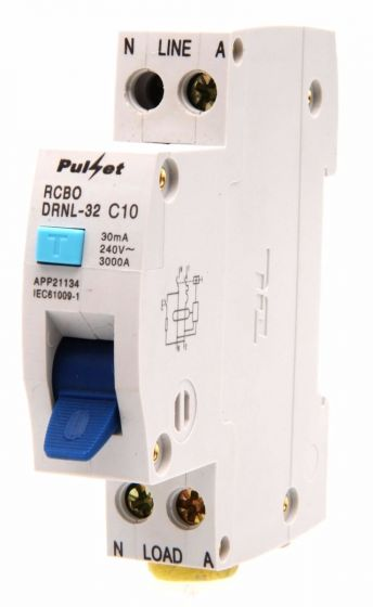 1 Pole RCD/MCB Electronic Combination