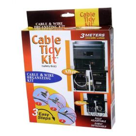 Cable Tidy Kit - Neatly Binds Bundles of Cables Together