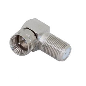 Right Angle F Female to F Male Adaptor 5PACK