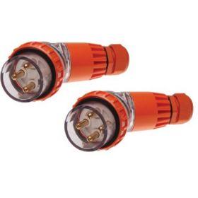 Single Phase 3 Round Pin Angled Plug