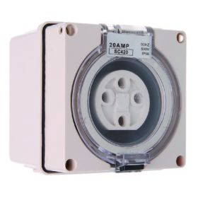 Three Phase 4 Round Pin Socket