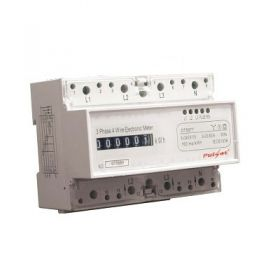Din rail mount three-phase kilowatt hour meter