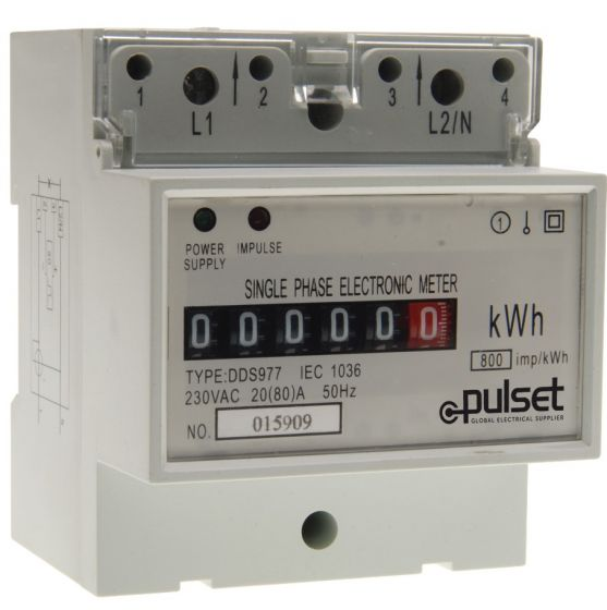 KW Hour Meter Single Phase